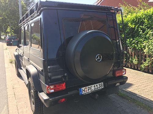 Original Mercedes G-Klasse w463 Reserveradring schwarz
