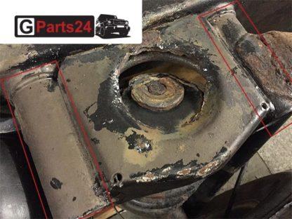 Mercedes G Reparartur Rahmen Rohr Hinterachse