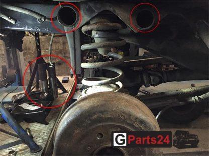 Rahmenreparatur Rohr Hinterachse Mercedes G-Klasse w463 w461 w460