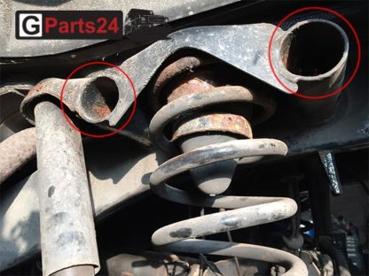 Reparatur Rahmenrohre Hinterachse G-Klasse
