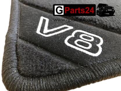 w463 G500 G-Klasse V8 Fußmatten Velours V8-Logo