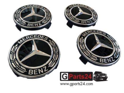G-Klasse Nabendeckel Lorbeerkranz schwarz 9040 A2224002200
