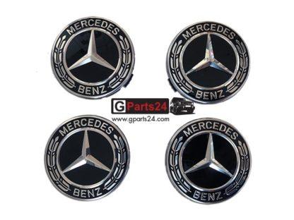 Original Mercedes Nabendeckel A2224002200 Lorbeerkranz schwarz