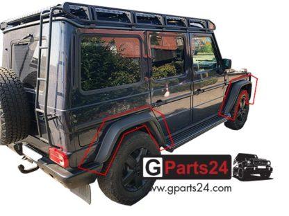 Code PA5 Sportpaket Verbreiterung G-Klasse w463 Installationsbeispiel am Fahrzeug