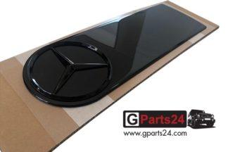 G-Klasse Montageplatte Aufkleber Emblem Reserveradabdeckung schwarz Firmenzeichen Abdeckplatte Reserveradcover A4638905400 9197