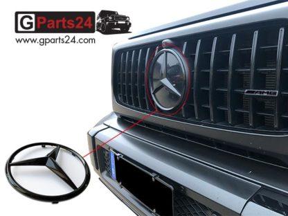 G-Klasse Mercedes Stern schwarz glänzend A0008177702 9197