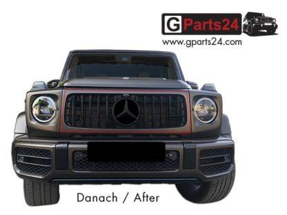 G-Klasse Panamericana Kühlergrill Dark Chrome nach Umbau Nachrüstung G63 A4638887900