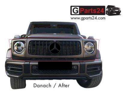 Umbau G-Klasse Panamericana Kühlergrill G350d G400d G500 auf G63 Optik w463a