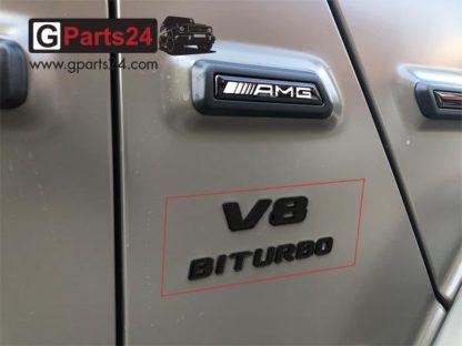 A4638175000 Mercedes G-Klasse AMG Emblem Typkennzeichen V8 Biturbo schwarz