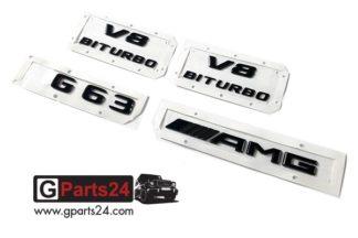 G-Klasse G63 AMG Typkennzeichen Emblem Set schwarz