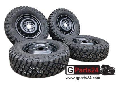 G-Modell Stahlfelge schwarz 16-Zoll A4604000302 6x16 ET63 w460 Stahlfelge w461 Stahlfelge G-Klasse Wolf Puch G